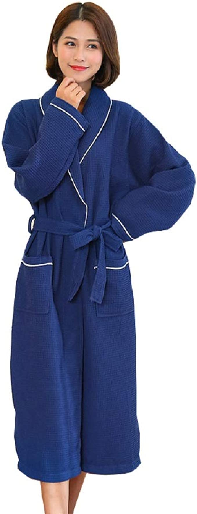 TALLA XL. SEMIR Mujer algodón Kimono Wrap Bata Bata Bata con Bolsillos y cinturón para Hombres y Mujeres