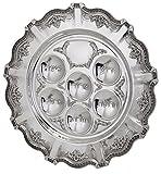 Hazorfim Cobalt Seder Plate Passover Pesach sterling silver judaica Israel Jerusalem Holy land gift .925 925 seder Jewish holiday hatzorfim
