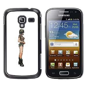 TopCaseStore / la caja del caucho duro de la cubierta de protección de la piel - Legs Hip White Minimalist - Samsung Galaxy Ace 2 I8160 Ace II X S7560M