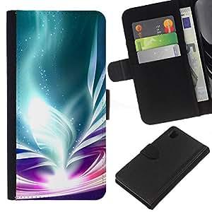 EJOY---La carpeta del tirón la caja de cuero de alta calidad de la PU Caso protector / Sony Xperia Z1 L39 / --Colores vibrantes mágica brillante