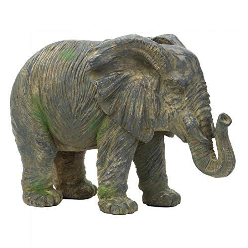 - Zings & Thingz 57073420 Large Elephant Statue, Gray