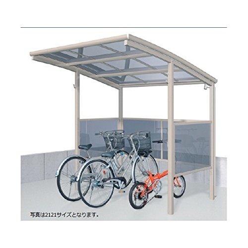サイクルポート 三協アルミ スマイリン 一般地型 1421 前面側面パネル 1段タイプ 『サビに強いアルミ製 家庭用 自転車置き場 屋根』  ブラック  本体カラー:ブラック B00ALRYTL8