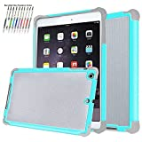 ipad mini cases cheap - iPad Mini Case Aken Tech Dual Layer Flexible Shockproof TPU Bumper with Hard PC Back Rugged Scratch Resistant Super Protective Case for iPad Mini 1/ iPad Mini 2/ iPad Mini 3 (Mint)