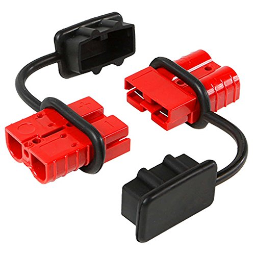 Battery Quick Connect Disconnect Electrical Plug 6-10 Gauge 75 Amps for Recovery Winch or ATV - 8 Gauge 7