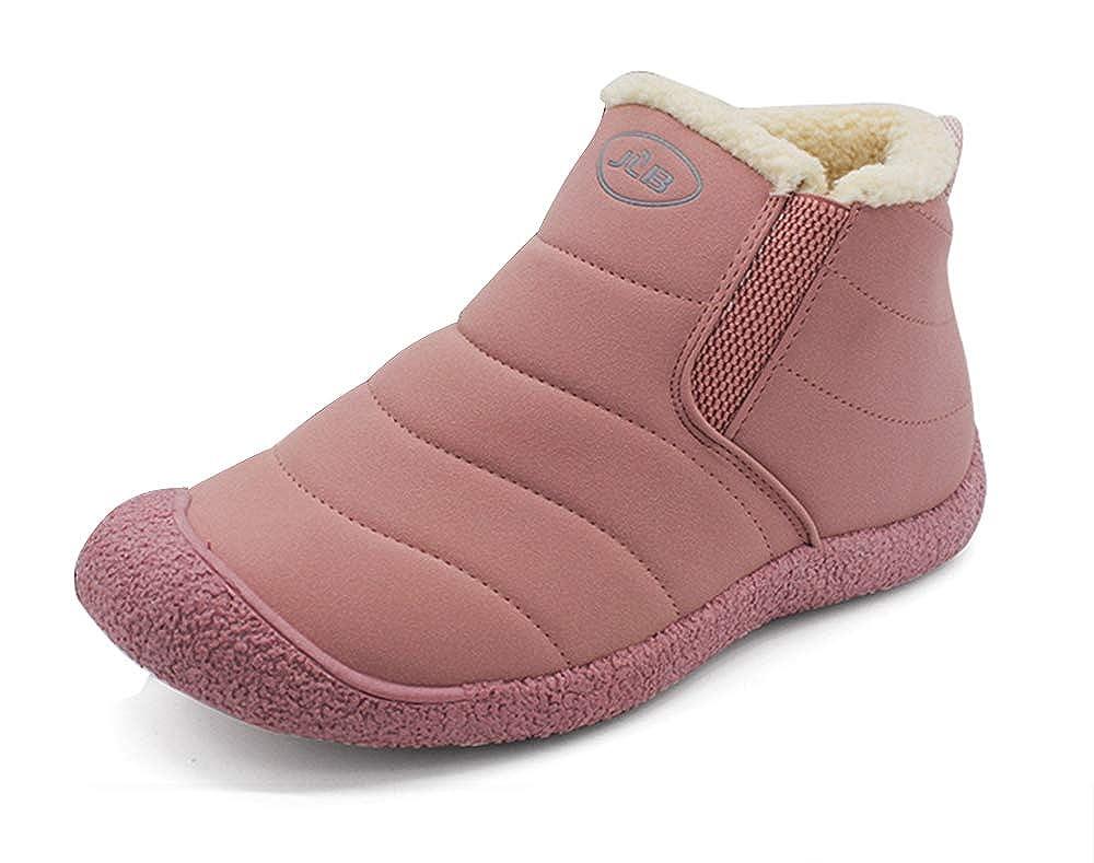 AARDIMI Winter Snow Boots Slip on Water Resistant Booties for Men Women Anti-Slip Lightweight Ankle Boots