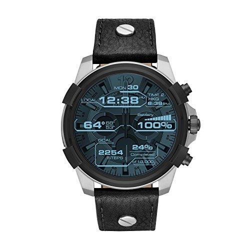 Diesel On Full Guard Touchscreen Black Leather Smartwatch DZT2001