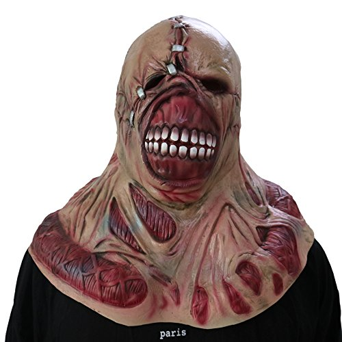 Burnt Zombie Costumes For Adults (Bloody Horror Melted Face Scary Halloween Mask Costume (Tyrant mask))
