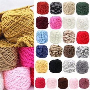 Artes, manualidades y costura – 200 g 25 color suave algodón hilo mano suave ovillo de lana (