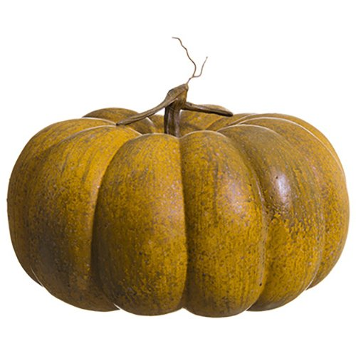 15''Hx15''W Artificial Weighted Pumpkin -Toffee/Orange (pack of 2) by SilksAreForever