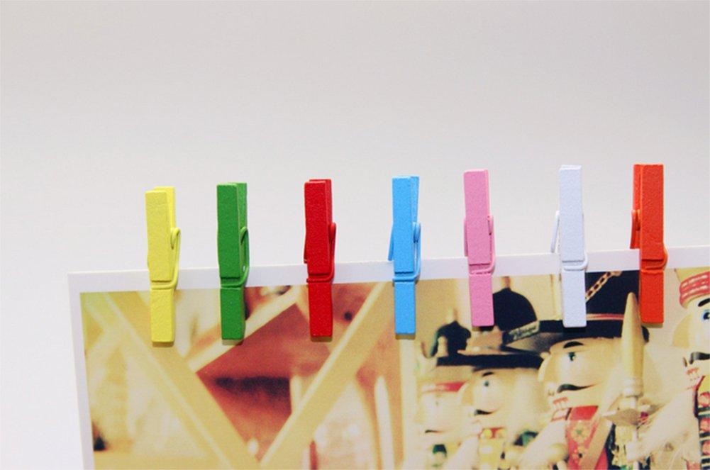 Doitsa 50pcs peque/ñas Pinzas de Madera Natural Clip Color Craft casa decoraci/ón decoraci/ón de Fiesta de Boda Recortes 3.5/* 0.8/cm