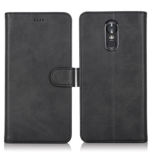 LG Stylo 4 Case, Wallet Case PU Leather Flip Folio Smart Cover Kickstand Card Holders Protective Anti-Scratch Bumper Magnetic Closure Clear TPU Slim Fit Shell for LG Stylo 4 Case 2018 Feitenn - Black