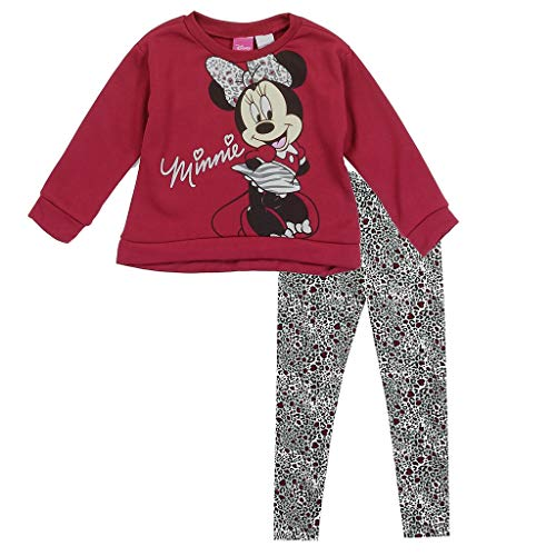 Little Girls' Minnie Fleece Top and Leggings Set