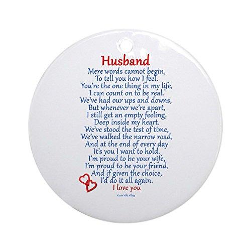 Husband Ornament (CafePress - Husband Love Ornament (Round) - Round Holiday Christmas Ornament)