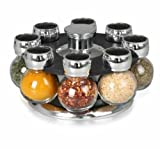 Orii Gourmet Spice Orb 8 Jar Spice Rack GSR1020