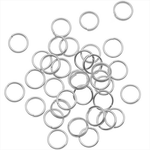 Beadaholique 100-Piece Split Rings, 6mm, Silver Plated EM/6N/S