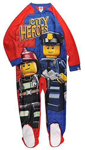 Lego Big Boys' Blanket Sleeper Good Cop, Red/Blue, 6/7
