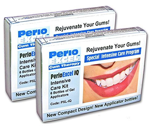 Sensitive Dental Care - PerioEXCEL IQ6 DuoPack Intensive Care 12-week Gum Therapy Kit with CoQ10 Gum Gel by Sensitive Dental Care