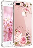 iphone 6 for girls cover - iPhone 6 Plus Case, iPhone 6S Plus Case, JAHOLAN Girl Floral Clear TPU Soft Slim Flexible Silicone Cover Phone case for Apple iPhone 6 Plus/iPhone 6S Plus - Rose Flower