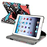 eForCity 360-Degree Swivel Leather Case for Apple iPad mini, Graffiti Style 2 (PAPPIPDMLC63)