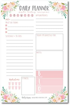 Daily Planner Page Simple Day planner Printable DayWeek Planner Includes NOT To-Do List Daily Planner Simple Productivity Planners