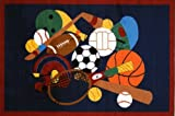 Fun Rugs Fun Time Sports America Rug 19''x29''