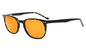 ae986df76c5 Eyekepper Computer Glasses-Acetate Frame-Better Sleep Eyeglasses for Small  Face Men Women Teenager