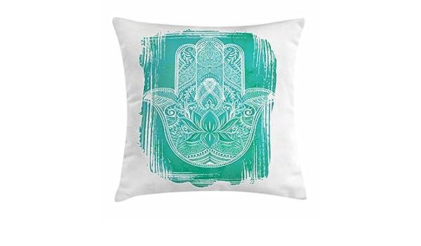 Amazon.com: Ambesonne Hamsa Throw Pillow Cushion Cover ...