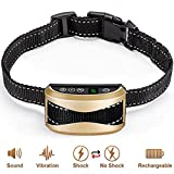 No Bark Collar - Rechargeable Anti-Barking Shock Control with 5 Levels Automatic Bark Collar for Small Medium Large Dogs Electronic Safe Stop Bark (design3)