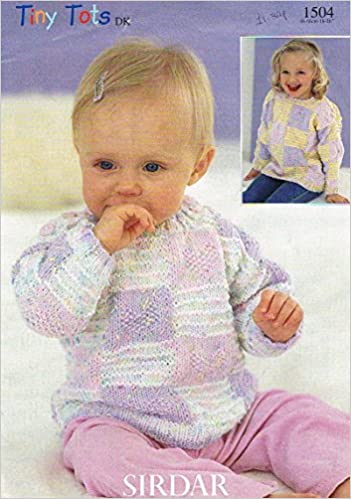 Sirdar Baby Clothes Knitting Pattern 1504 Sweater In Sirdar Tiny