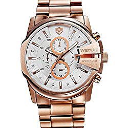 Gullor WEIDE waterproof multifunction business casual men's watches - gold