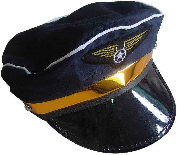Simplylin Captain Hat Yacht Cap - Costume Navy Marine Admiral Hat Adjustable Sea Cap for Costume Accessory (C)