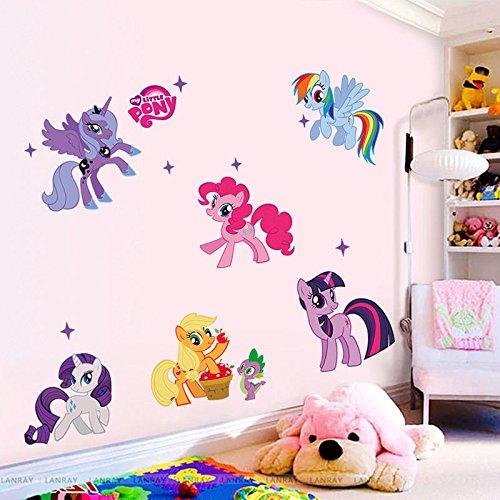 New Decor MY LITTLE PONY Cartoon Wall Decals Sticker Removable Vinyl Mural Kids Room Decor