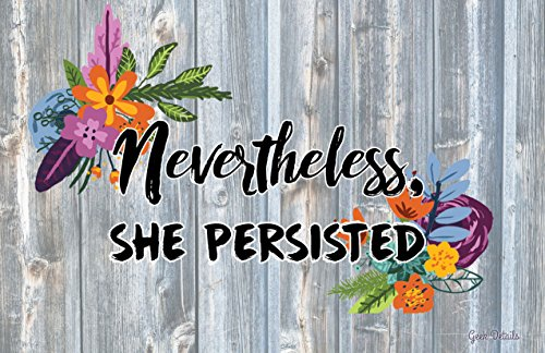 Geek Details Nevertheless She Persisted Wood Art Print Poster
