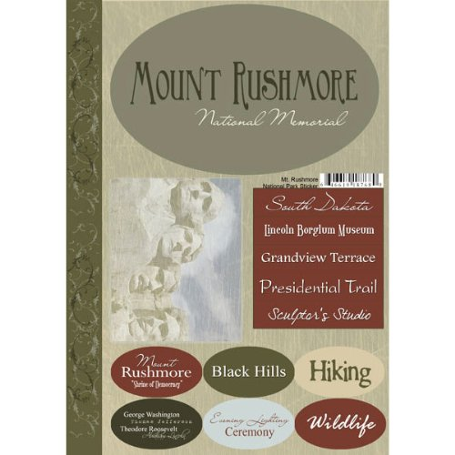 National Park Mount Rushmore South Dakota Cardstock Stickers Scrapbook Customs United States Collection