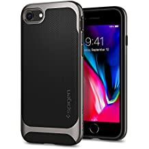 Spigen Neo Hybrid Herringbone iPhone 8 Case/iPhone 7 Case with Flexible Inner Protection and Reinforced Hard Bumper Frame for Apple iPhone 8 (2017)/iPhone 7 (2016) - Gunmetal