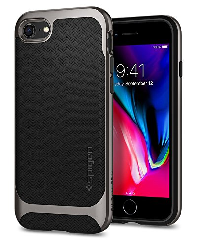 Spigen Neo Hybrid Herringbone iPhone 8 Case/iPhone 7 Case with Flexible Inner Protection and Reinforced Hard Bumper Frame for Apple iPhone 8 (2017)/iPhone 7 (2016) - (Hybrid Hard Case)