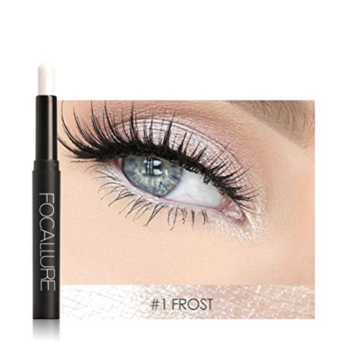 OUFENLI Highlighter Eye Shadow Stick Cosmetic Lying Silkworm Big Smokey Eyes Shimmer Automatically Rotate Glitter Eye Liner Pen Makeup Set (A)