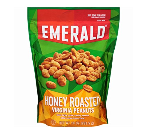 Emerald Honey Roasted Peanuts 10 oz (Pack of 3)