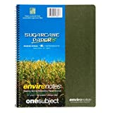 """Roaring Spring Environotes Notebook, One Subject, 11"""" x 8.5"""", 80 sheets, College Ruled, 20# BioBase Paper"""
