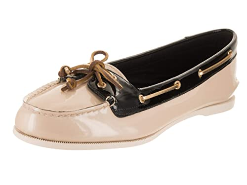 f8ff918e733 Sperry Top-Sider Women s Audrey Nude Black Patent Boat Shoe 9 Women US