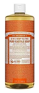 Del Dr. Bronner Magia Jabones Pure-jabón de castilla, 18-in-1 Hemp Tea Tree, de 32 onzas
