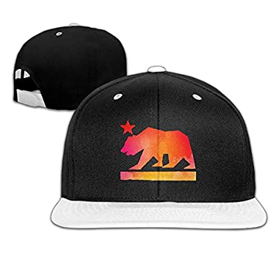 Rock Punk Trucker Hat Geometry California Bear Unisex Baseball Cap Hip-hop Snapback White
