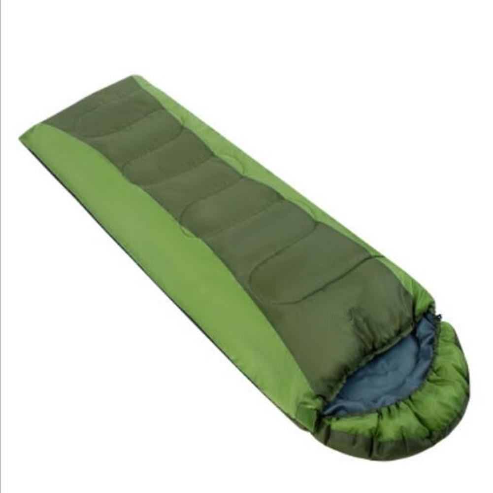 YXX sleeping bag outdoor Envelope Keep warm advanced sleeping bag Hollow cotton sleeping bag Spring and autumn waterproof Anticold (green)