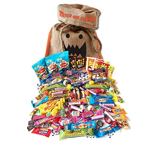 British Halloween Trick Or Treat Retro Candy Bag | 100 pcs / 2.2 pound English nostalgic sweets assortment ()