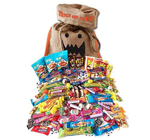 British Halloween Trick Or Treat Retro Candy Bag | 100 pcs / 2.2 pound English nostalgic sweets assortment