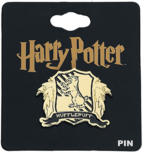 Harry Potter Hufflepuff Crest Pin Black-gold