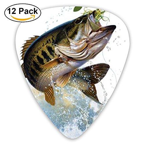 Libra Parts Pink Fishing Lure Bass Thin Heavy Medium Acoustic Guitar Picks Unisex 12 Packs Cigar Box Guitar