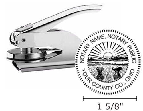 Pocket Seal Embosser - Ohio Notary Seal Embosser, Pocket/Hand Model, 1-5/8