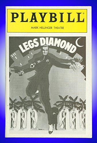 Legs Diamond, Broadway Playbill + Peter Allen, Julie Wilson, Randall Edwards, Joe Silver-toned, Raymond Serra, Christian Kauffmann, Pat McNamara, Jim Fyfe, Bob Stillman