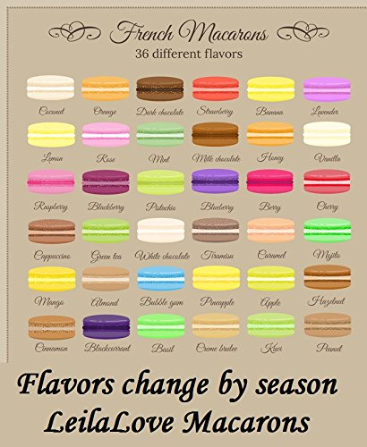 Leilalove Macarons - 16 Parisian Macaron Collections of dozen Flavors - Elegant Gentleman style gift box - Baked to Order by LeilaLove,Inc (Image #4)'